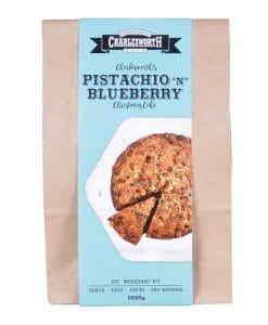 Pistachio 'n' Blueberry Christmas Cake