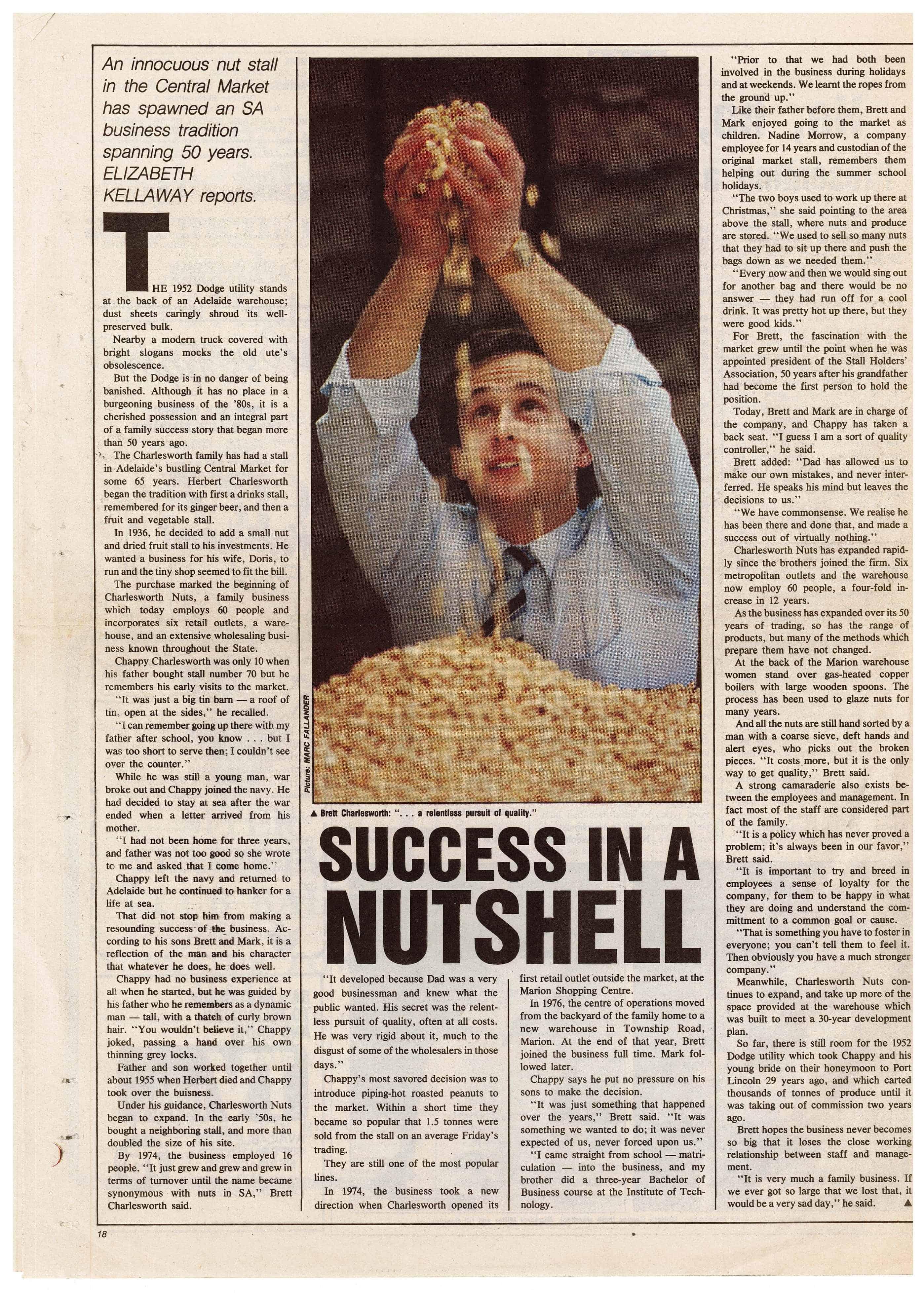 Brett Newspaper Article